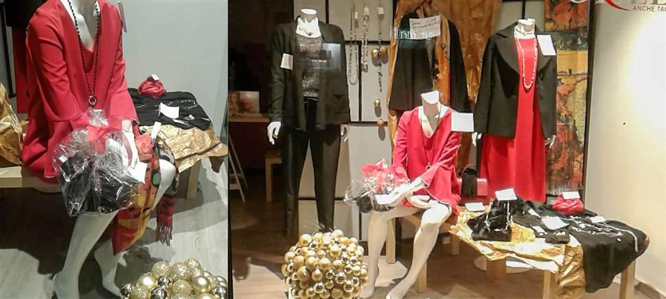Vieni a scegliere il tuo outfit per le feste e i tuoi regali di Natale: abbigliamento dalla taglia 44 alla 62 con sconti fino al 40%. Accessori, bigiotteria.