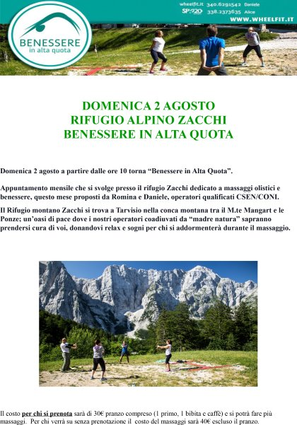BENESSERE IN ALTA QUOTA - EVENTO - Tarvisio