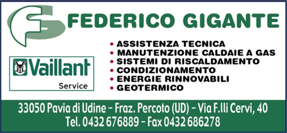 FEDERICO GIGANTE - Pavia di Udine