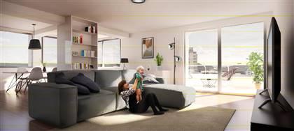 A Pordenone, in vendita attico di 153mq. Tre camere, tre bagni, terrazza panoramica, balcone. Cl A4. Se interessato chiamaci