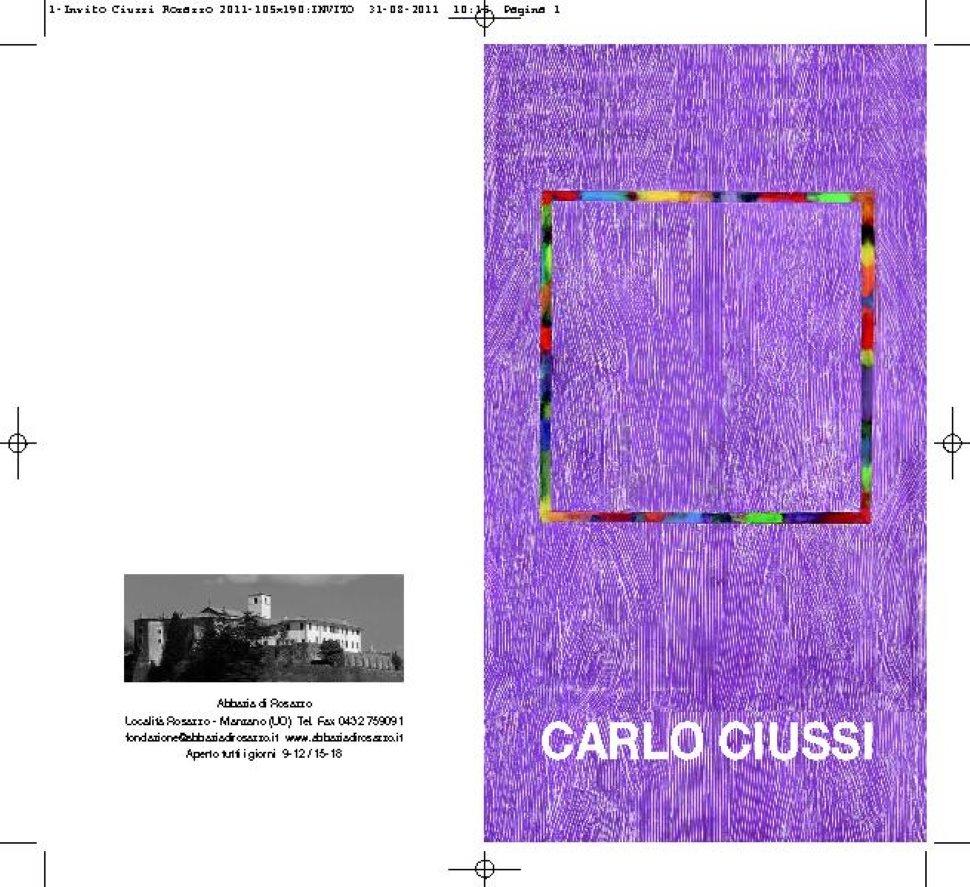 'Carlo Ciussi. Geometrie del Divenire'