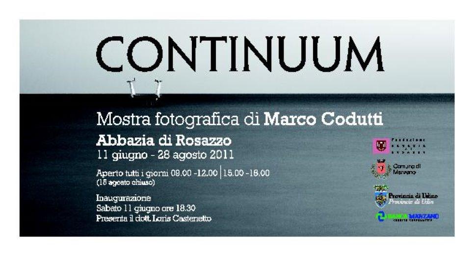 'Continuum' mostra fotografica di Marco Codutti