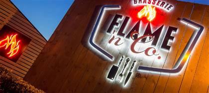 Una cena tra amici? Flame'n Co mette tutti d'accordo: ottima carne alla griglia, le pizze dei nostri chef, proposte vegetariane, menù bambini.