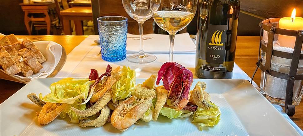 Tartufo nero e Rosa di Gorizia sono alcuni degli ingredienti del menù di gennaio. Vieni a gustarlo insieme ai vini Paolo Caccese e Anticobroilo