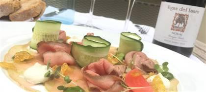 Gamberi, zucchine, salmone sono solo alcuni degli ingredienti del nostro menù di giugno. Vieni a gustarlo insieme ai vini Ronco dei Tassi.
