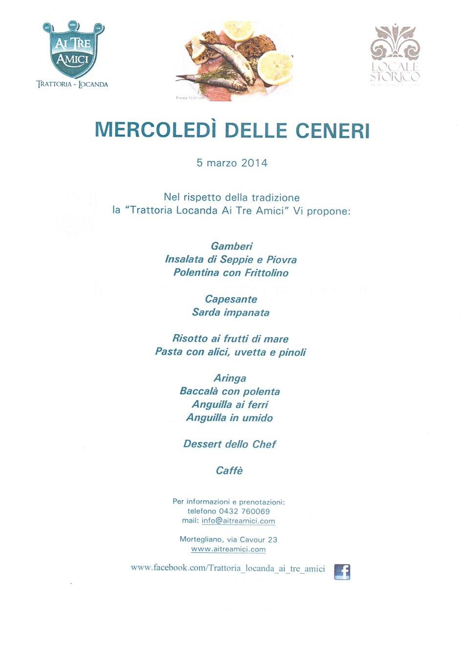 MERCOLEDI' DELLE CENERI
