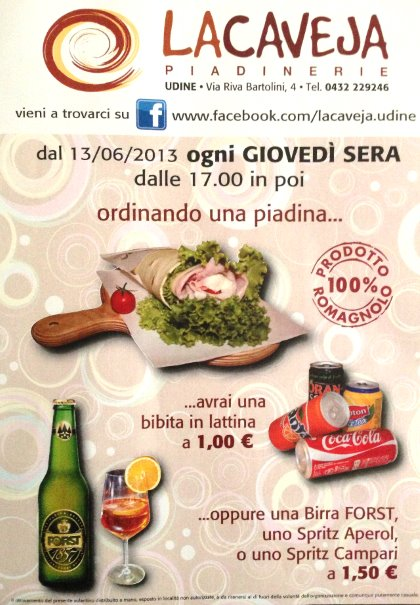LA CAVEJA PIADINERIA - Udine