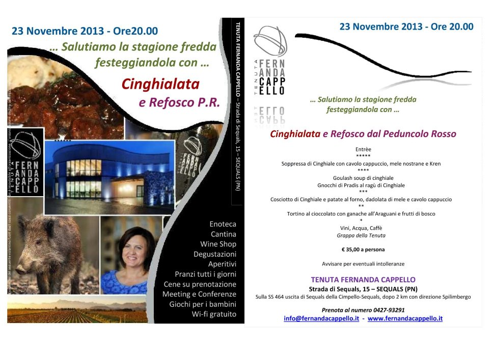 CINGHIALATA E REFOSCO P.R.