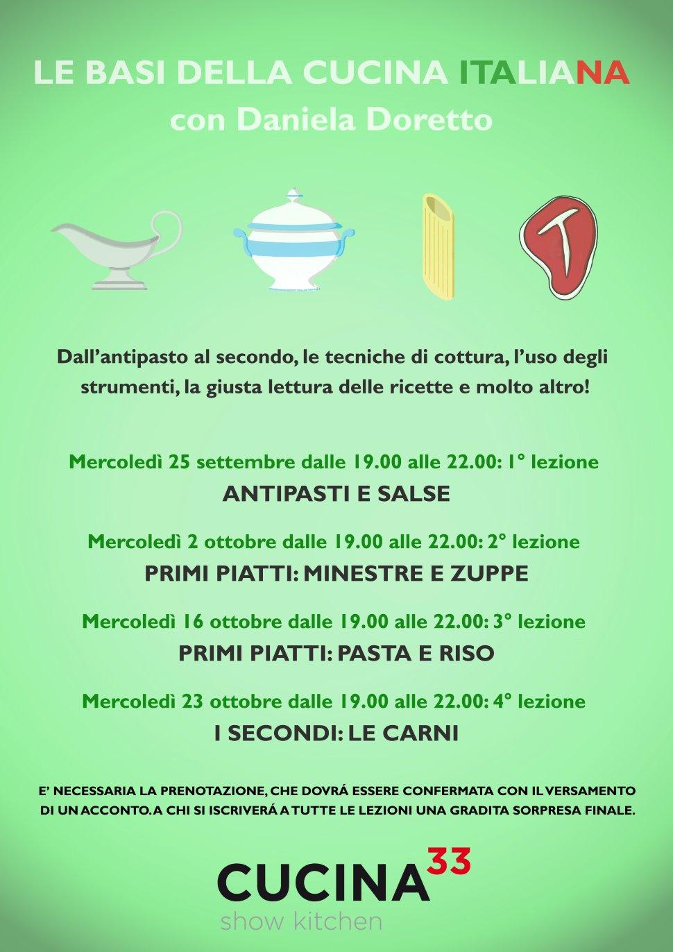 LE BASI DELLA CUCINA ITALIANA - 1° INCONTRO