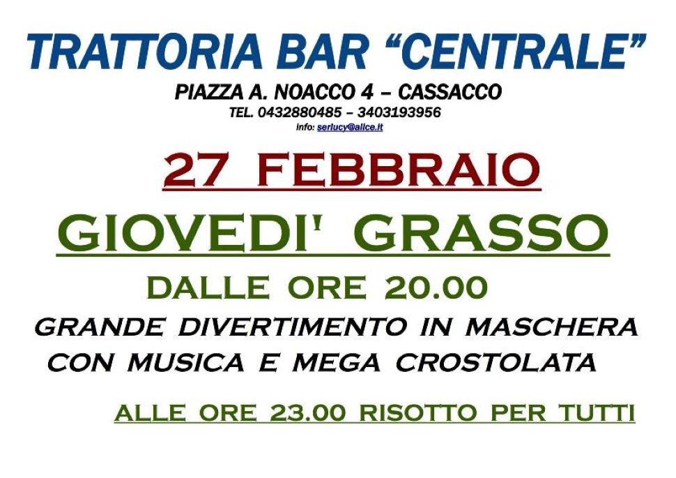 27 Febbraio GIOVEDI' GRASSO