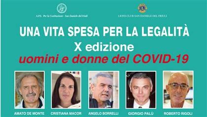 Una Vita Spesa per la Legalità - X Edizione <br />uomini e donne del COVID-19
