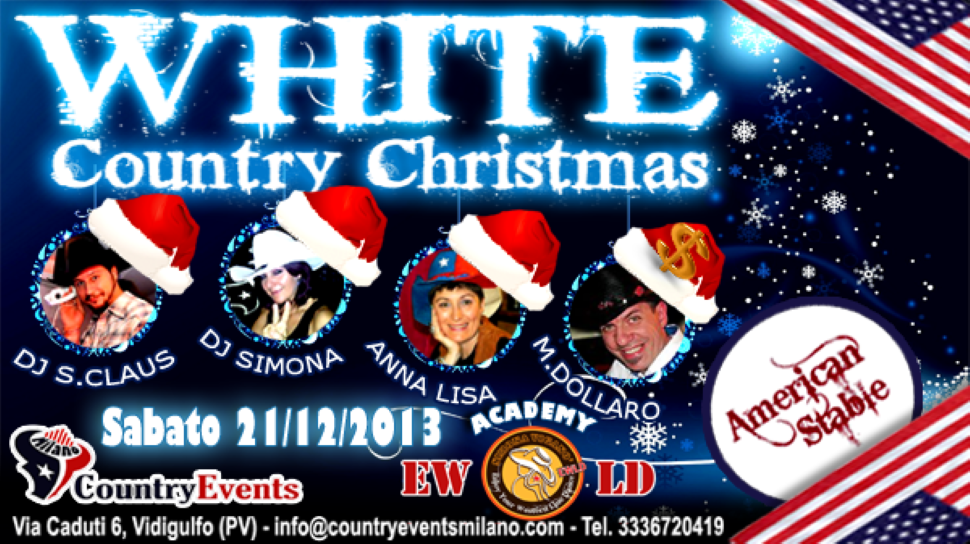 21/12/2013 WHITE COUNTRY CHRSTMAS ALL'AMERICAN STABLE APS DI VIDIGULFO (PV)