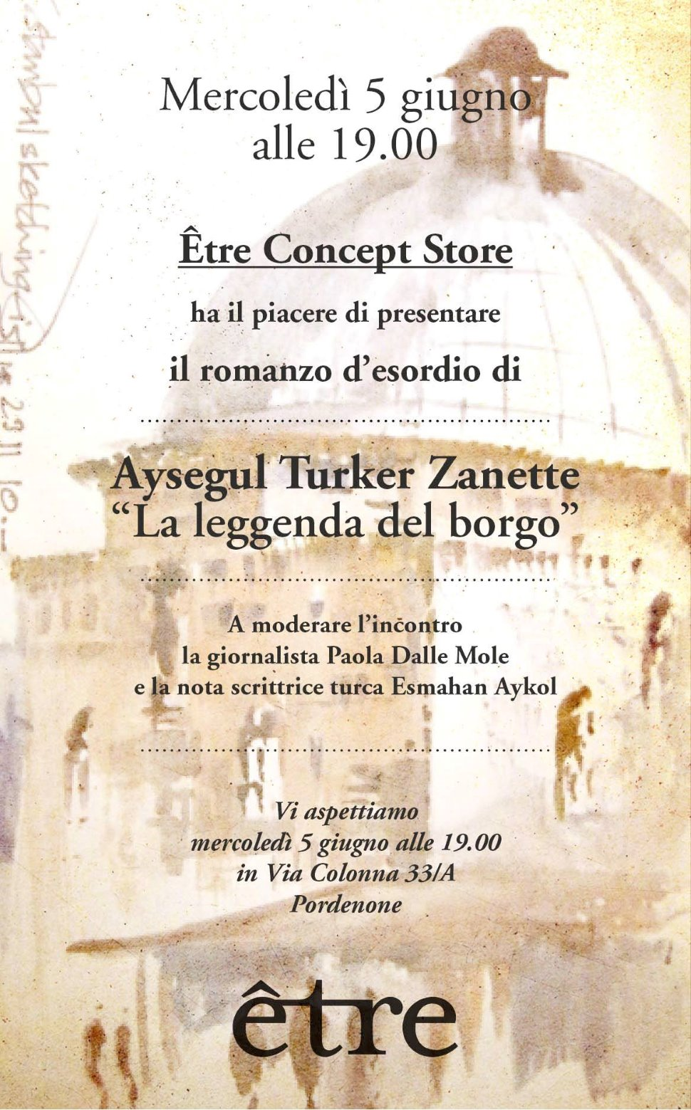 """Presentazione del romanzo d'esordio di Aysegul Turker Zanette """"La leggenda del borgo"""""""