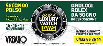 Vieni ai Luxury Watch Days: tre giorni dedicati ai Rolex di secondo polso. Un evento unico e gratuito il 15, 16, 17 novembre. Prenota ora