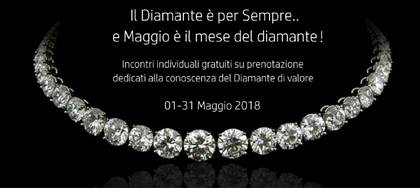 La nostra Gioielleria è un centro di riferimento per i Diamanti in FVG. Approfitta perché Maggio è il mese del Diamante.