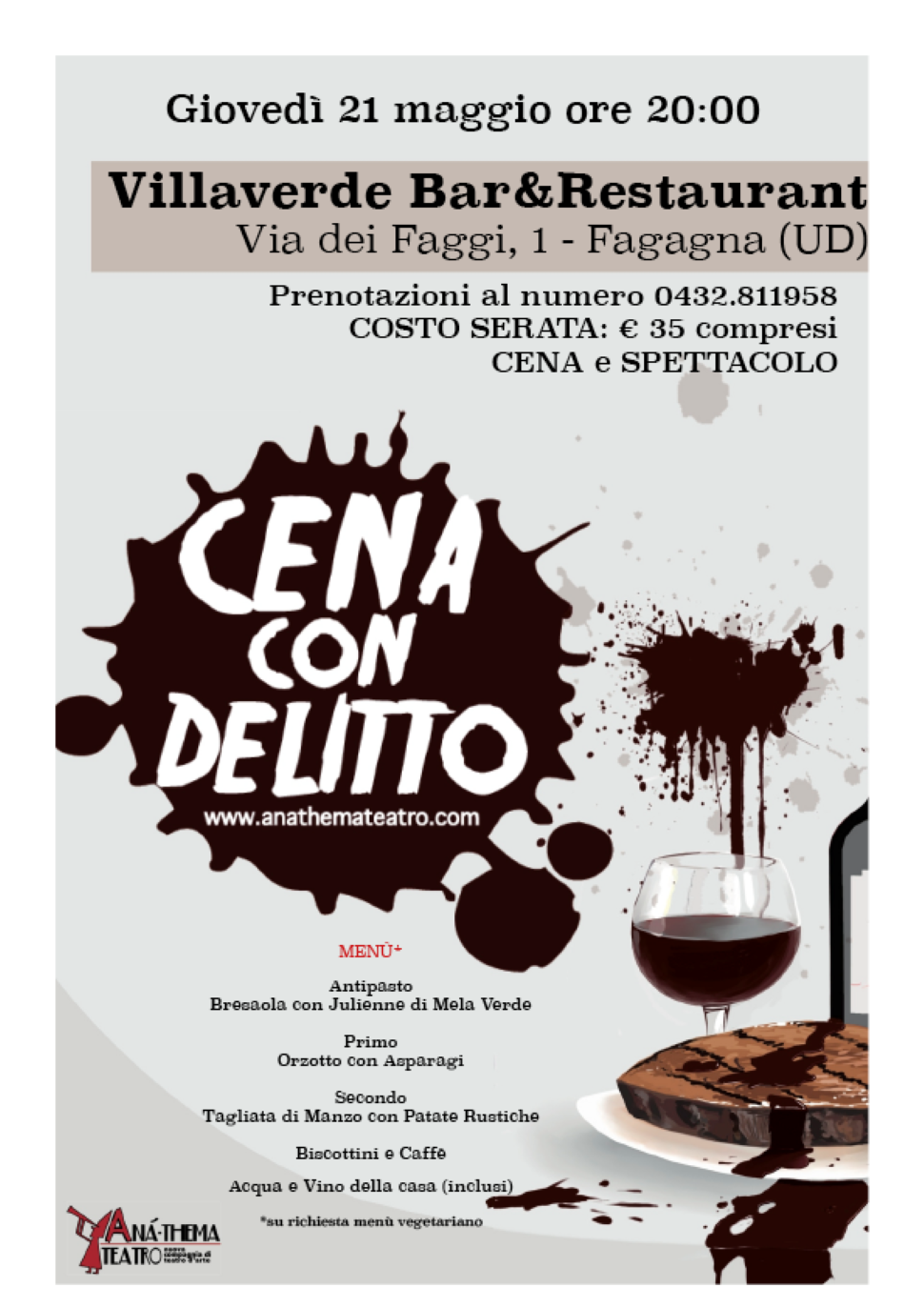 Cena con delitto by Anà-Thema Teatro