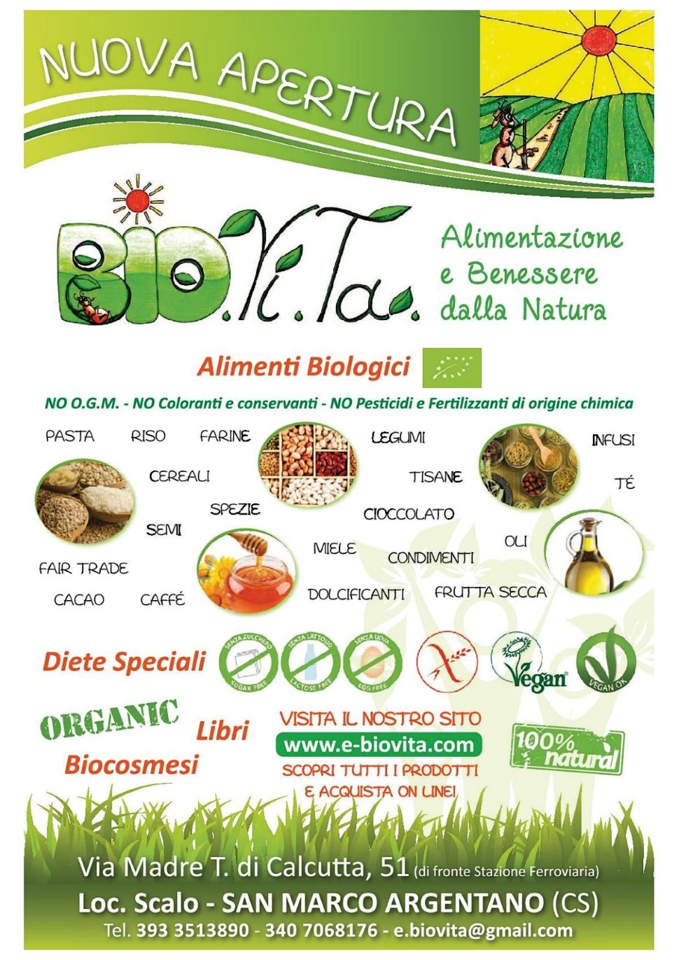 Negozio Biologico - Diete Speciali - Biocosmesi