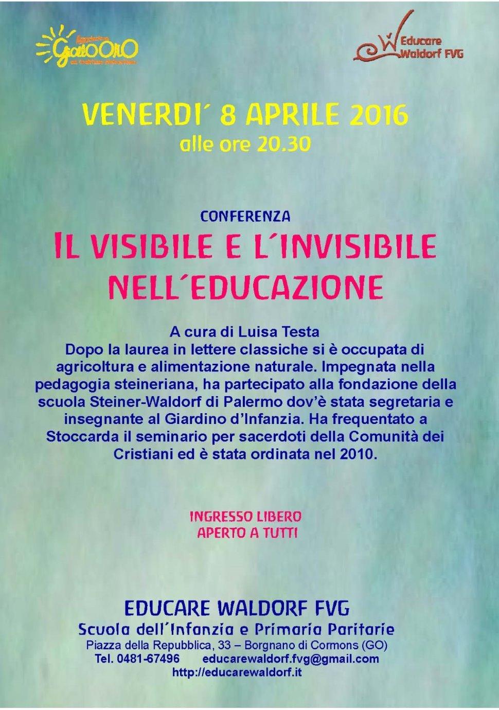 Il VISIBILE e l'INVISIBILE nell'educazione