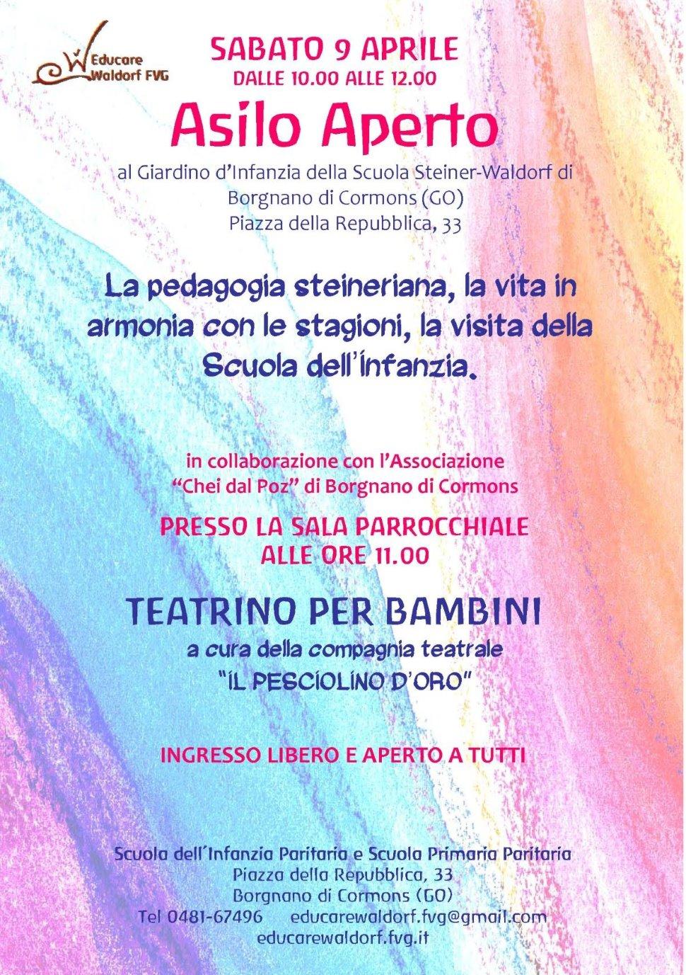 ASILO APERTO Vieni a vivere la pedagogia steineriana al Giardino d'Infanzia!!!