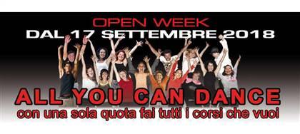 Dal 17 settembre vieni a provare gratis tutti i nostri corsi di danza! Modern, contemporaneo, hip-hop. Anche per bambini dai 3 anni.