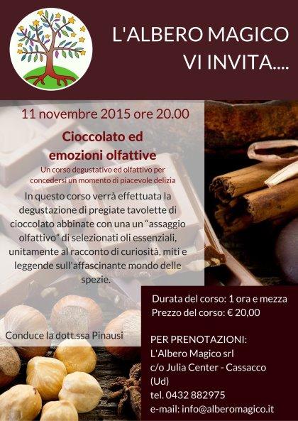 11 novembre: cioccolato ed emozioni olfattive