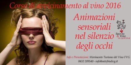 Un percorso di animazione sensoriale nel silenzio degli occhi!