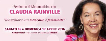 SEMINARIO DI METAMEDICINA CON CLAUDIA RAINVILLE