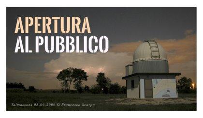 Apertura al pubblico dell'Osservatorio Astronomico di Talmassons