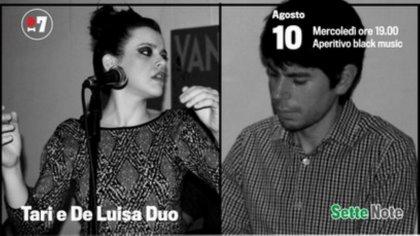 Mercoledì 10 Agosto dalle ore 19.00 | Aperitivo black music con il Duo Tari & De Luisa