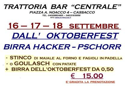 OKTOBERFEST BEER 16 - 17 - 18 SETTEMBRE
