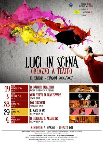 LUCI IN SCENA - CREAZZO A TEATRO Stagione 2016/17