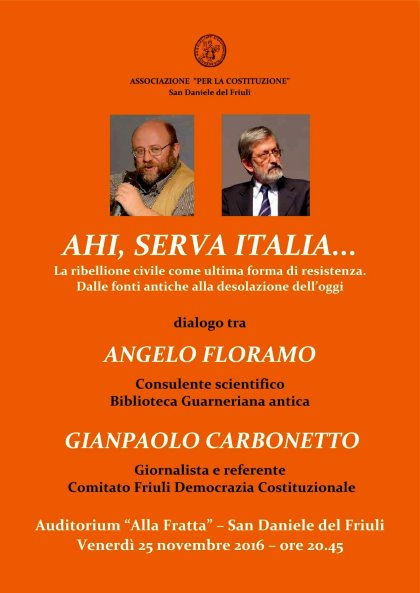 AHI, SERVA ITALIA... La ribellione civile come ultima forma di resistenza