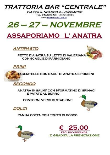ASSAPORIAMO L'ANATRA