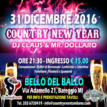 COUNTRY NEW YEAR 2016/17