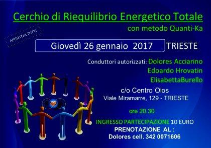 CERCHIO RIEQUILIBRIO ENERGETICO TOTALE CON METODO QUANTI-KA