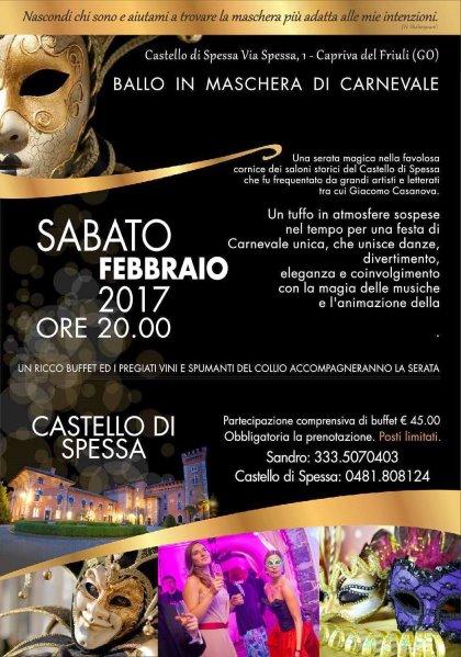 Masquerade : Carnevale Al Castello Di Spessa