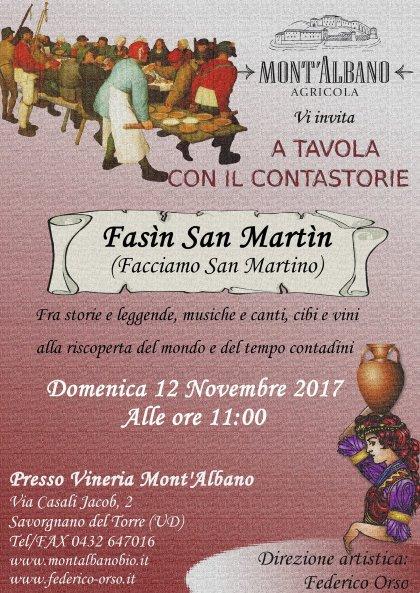 Fasìn San Martin - A tavola con il contastorie