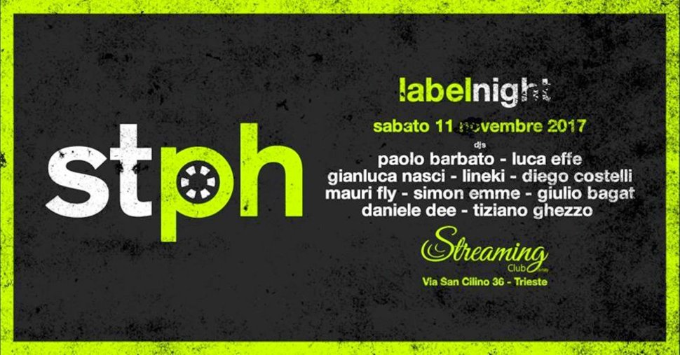 Stereophonic Label Night : 10 artisti della house allo Streaming Club
