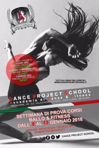 SETTIMANA DI PROVA GRATUITA CORSI DI BALLO & FITNESS DALL' 8 AL 13 GENNAIO 2018