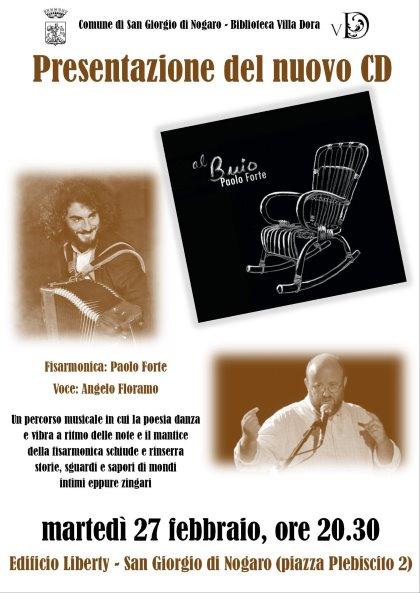 """Angelo Floramo presenta il CD """"Al Buio"""" di Paolo Forte"""