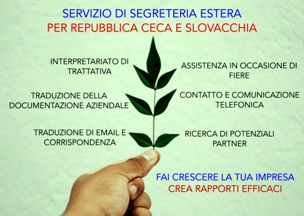 Servizio di segreteria estera per Repubblica ceca, Slovacchia e Paesi di lingua inglese