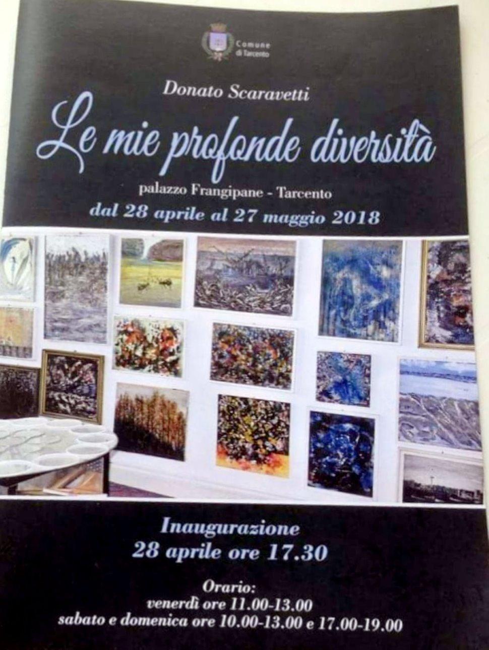Esposizione Donato Scaravetti Palazzo Frangipane ad Tarcento