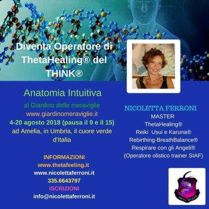 CORSO DI THETAHEALING® ANATOMIA INTUITIVA