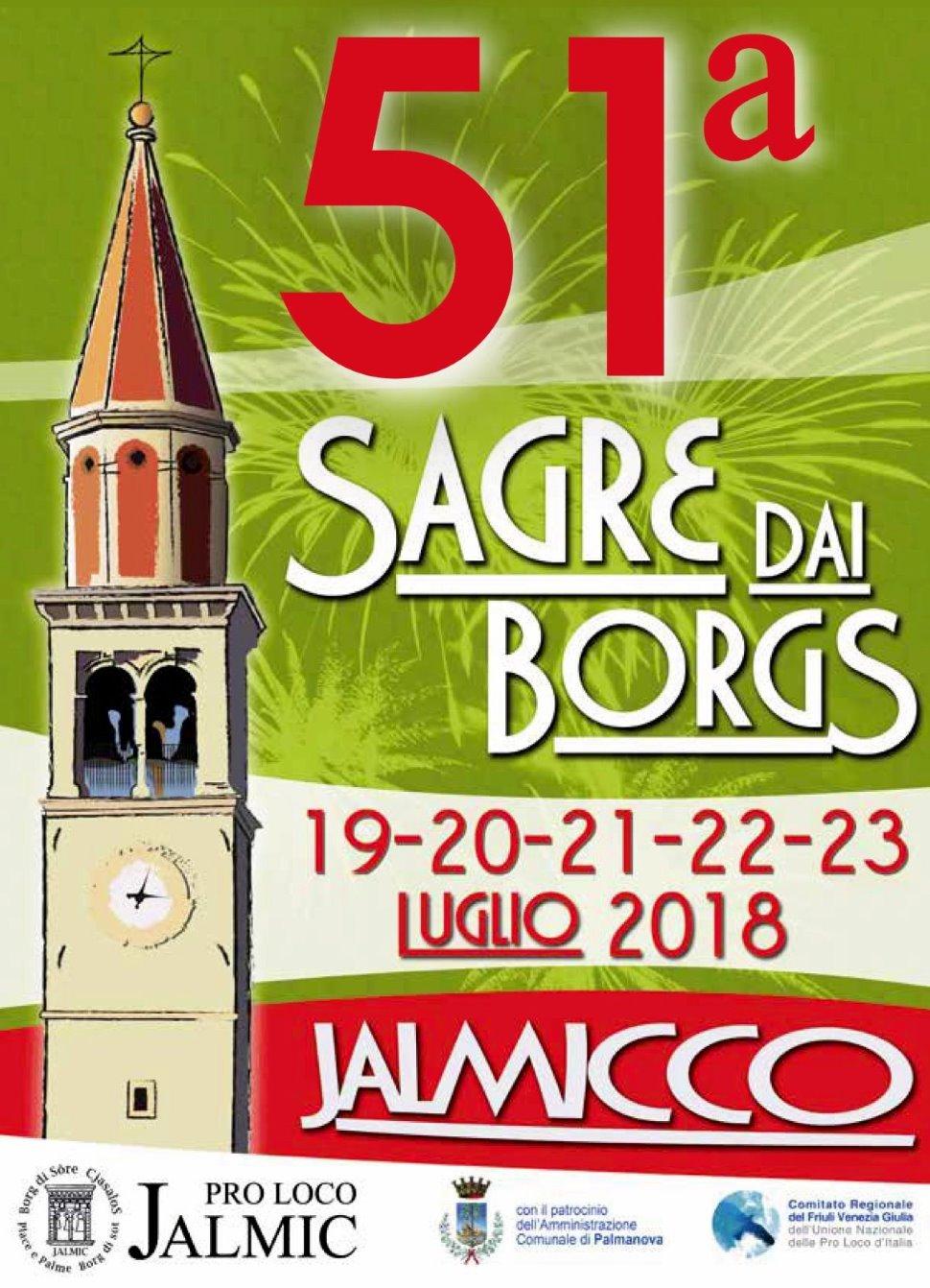 51° SAGRE DAI BORGS – JALMICCO Sagra paesana tradizionale dal 19 luglio 2018 al 23 luglio 2018