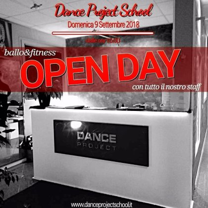 DANCE PROJECT SCHOOL - OPEN DAY DOMENICA 9 SETT 2018 - PROVE CORSI DAL 17 SETT 2018
